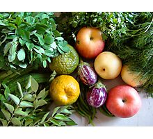 Vegetables & Fruits - Healthy Food Photographic Print