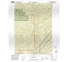 USGS Topo Map Oregon Soldier Camp Mountain 281562 1998 24000 Poster