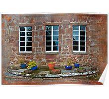 Delgatie Castle From the Backyard (near Turriff, in Aberdeenshire, Scotland) Poster