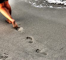 Emotions walking on the beach by Francesco Malpensi