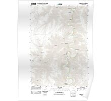 USGS Topo Map Oregon Indian Cove 20110903 TM Poster