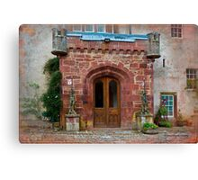 Delgatie Castle from the Back (near Turriff, in Aberdeenshire, Scotland) Canvas Print