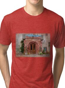 Delgatie Castle from the Back (near Turriff, in Aberdeenshire, Scotland) Tri-blend T-Shirt
