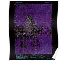 USGS Topo Map Oregon Grants Pass 280072 1986 24000 Inverted Poster