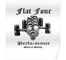 Flat Four Performance light background Poster