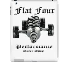 Flat Four Performance light background iPad Case/Skin