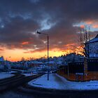 Sunset Over the Mains Estate... by GerryMac