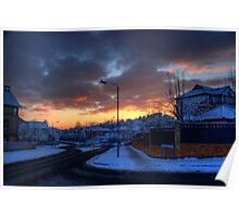 Sunset Over the Mains Estate... Poster