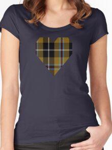 00173 Cornish National (English District) Tartan  Women's Fitted Scoop T-Shirt