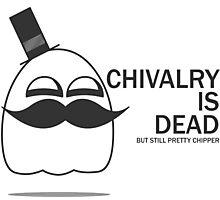 Chivalry is dead but still pretty chipper Photographic Print