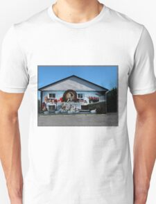 Hockey History Don Cherry Building Mural T-Shirt