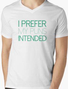 I Prefer My Puns Intended Mens V-Neck T-Shirt