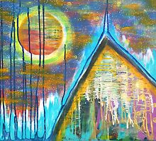 Mountain Home for the Heart: Inner Power Painting by mellierosetest