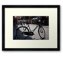 cityscapes #179, street bike Framed Print