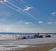 Berks County Farm Winter by RobertSander