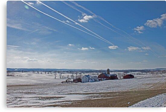 Berks County Farm Winter by RobertSander