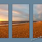 Sunset on the Brighton Beach Boxes (HDR) by Puggs