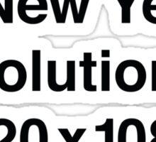 My New Year's Resolution Sticker