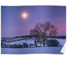 Moon over the Chilterns Poster