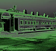 Railroad Station with a GreenFlair by RobertSander