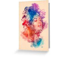 Beyonce Giselle Knowles watercolor Portrait - Beyoncé Greeting Card