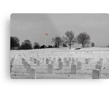 Jefferson Barracks with Flag Metal Print