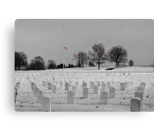 Jefferson Barracks with Flag Canvas Print