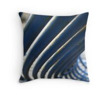 Blue Slide Throw Pillow