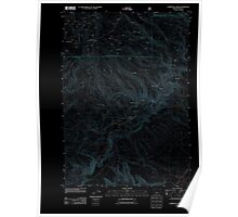 USGS Topo Map Oregon Committee Creek 20110727 TM Inverted Poster