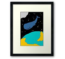 Space Whale Framed Print