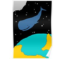 Space Whale Poster