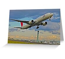 Japan Airlines T.Off Paris C.D.G.        France Greeting Card