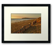 Sunrise Raafs Beach Framed Print