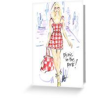 Picnic In The Park Greeting Card