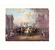 Evacuation day and Washington's Triumphal Entry in New York City Nov. 25th, 1783 Art Print