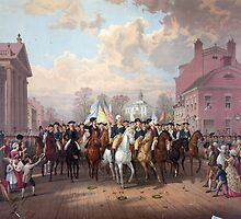 Evacuation day and Washington's Triumphal Entry in New York City Nov. 25th, 1783 by allhistory