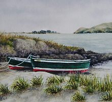 Two Little Boats by Fiona  Lee
