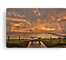 Sitting under A ray of Hope Canvas Print