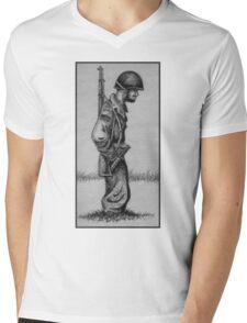 An Infantryman on Okinawa,1945 Mens V-Neck T-Shirt