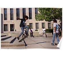 Skateboarders in DC Poster