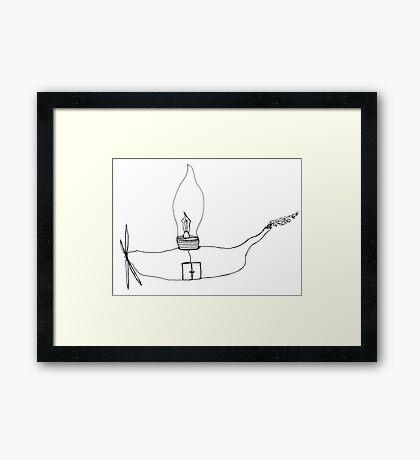 I Wonder Ship Framed Print