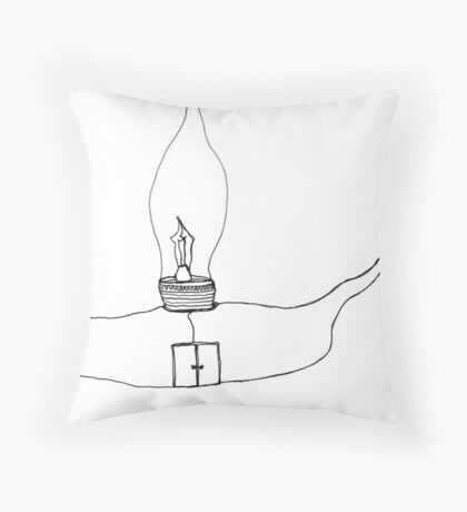 I Wonder Ship Throw Pillow