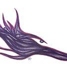 Velvet Wave Pen & Ink by JamieLynnGW