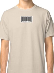 UPC Barcode: Menial Servant of Corporate Greed Classic T-Shirt