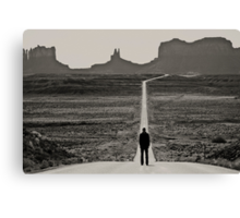 Self Portrait, Monument Valley, Utah Canvas Print