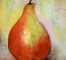 A PEAR- Watercolor painting by Esperanza Gallego