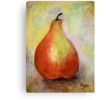 A PEAR- Watercolor painting Canvas Print