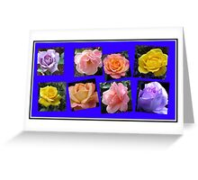 Roses of Many Colours Collage Greeting Card