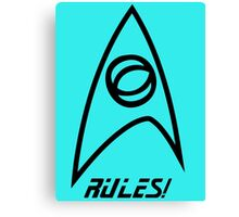 Science Rules! Canvas Print