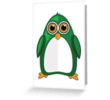 Green Penguin Greeting Card